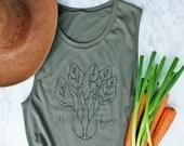 Vegan Shirt - Herbivore - Women's Relaxed Muscle Tank Top - Vegan Tank Top