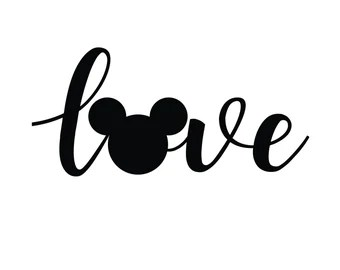 Download Micky Mouse Ears Love Svg - Layered SVG Cut File