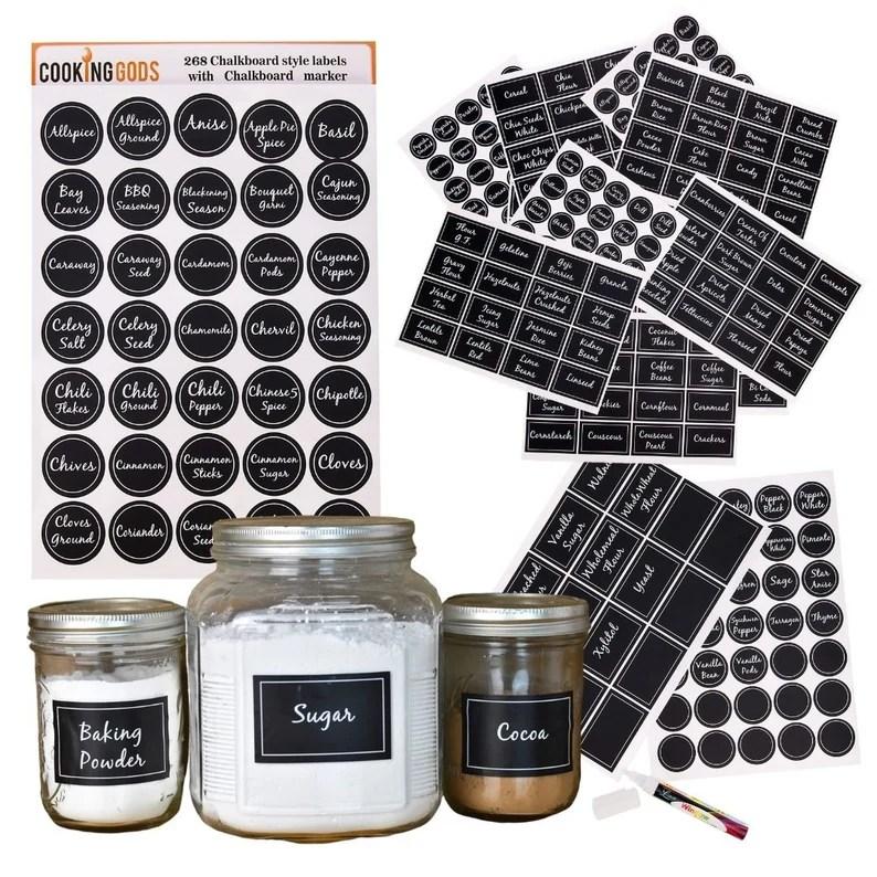 Spice jar labels  Chalkboard labels  Pre printed Kitchen image 0