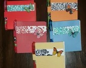 Sticky Note Holder Set -  Sticky Note Covers with pen - Embellished Sticky Note Covers - Paper designed for Sticky Notes