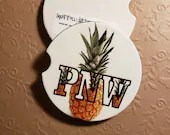 Custom Car Coasters - PNW (Pacific Northwest) Pineapple Coasters