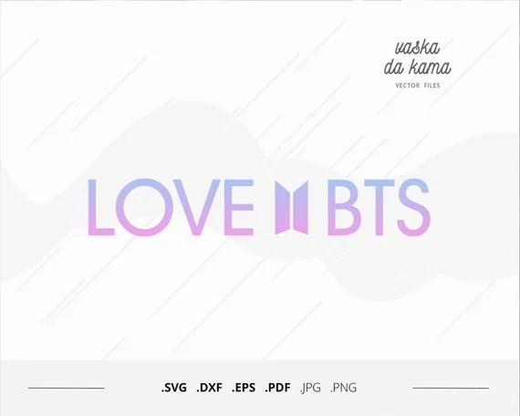 Download Love BTS svg cuttable vector graphics kpop Bangtan style ...