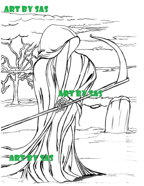 grim reaper coloring pages # 52