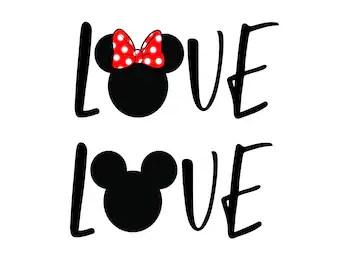 Download Free font_Love disney svg png Dxf Love disney cut Love   Etsy