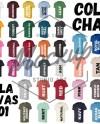 Bella Canvas 3001 Color Chart Mockup Color Digital File Shirt Etsy
