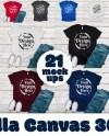 Bella Canvas 3001 T Shirt Mockup Mega Bundle 21 High Quality Etsy