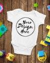 Blank White Baby Onesie Mockup Fashion Design Styled Baby Etsy