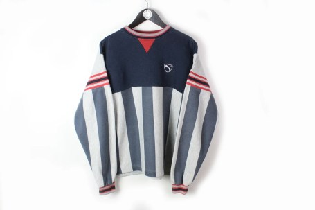 vintage PUMA sweatshirt authentic blue gray Activity Wear Size image 0