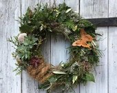 "Natural door wreath ""butterfly"""