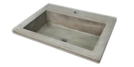 concrete vessel sink drop in concrete vanity sink rectangle