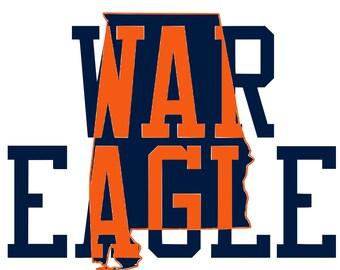 Download War eagle svg | Etsy