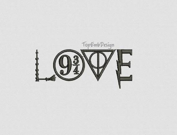 Download Harry Potter Love Logo Hogwarts Deathly Hallows Platform ...