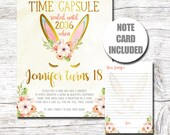 Time Capsule-Bunny Birthday-Time Capsule Sign-Some Bunny Is One-Bunny Party