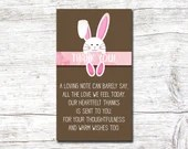 Girl Pink Easter Baby Shower Party Invitation Spring Bunny Invite Rabbit Digital Download Printable Egg Hunt Thank You 3.5x2