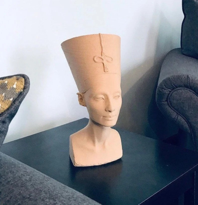 Nefertiti Replica Bust - 3D Printed Ancient Egyptian Queen Statue