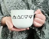 Vinyl decal for coffee cup with symbol of customization elements of cup, sticker, decorations, wiccan symbol,