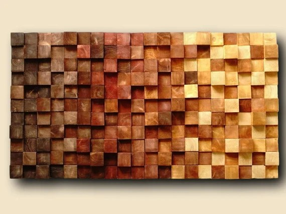 Usa Only Mosaic Wood Wall Art Wood Wall Art Rustic Wooden Etsy