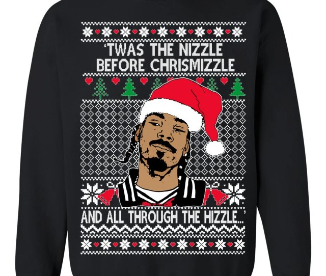Oncoast Snoop Dog Fo Shizzle Dizzle Snoop Dog Ugly Christmas Sweater Funny Ugly Christmas Sweater Holiday Gift