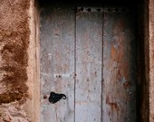 Rustic old door, Blue door from France, backdrop photography, digital print, ML133