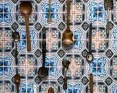 Portugese symmetric tiles backdrop, ML842, digital backdrop, colourful backdrop, Portugese tiles, backdrop foodphotography, myluciebackdrops