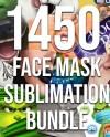 1450 Face Mask Sublimation Bundle Face Cover Mask Template Png Etsy