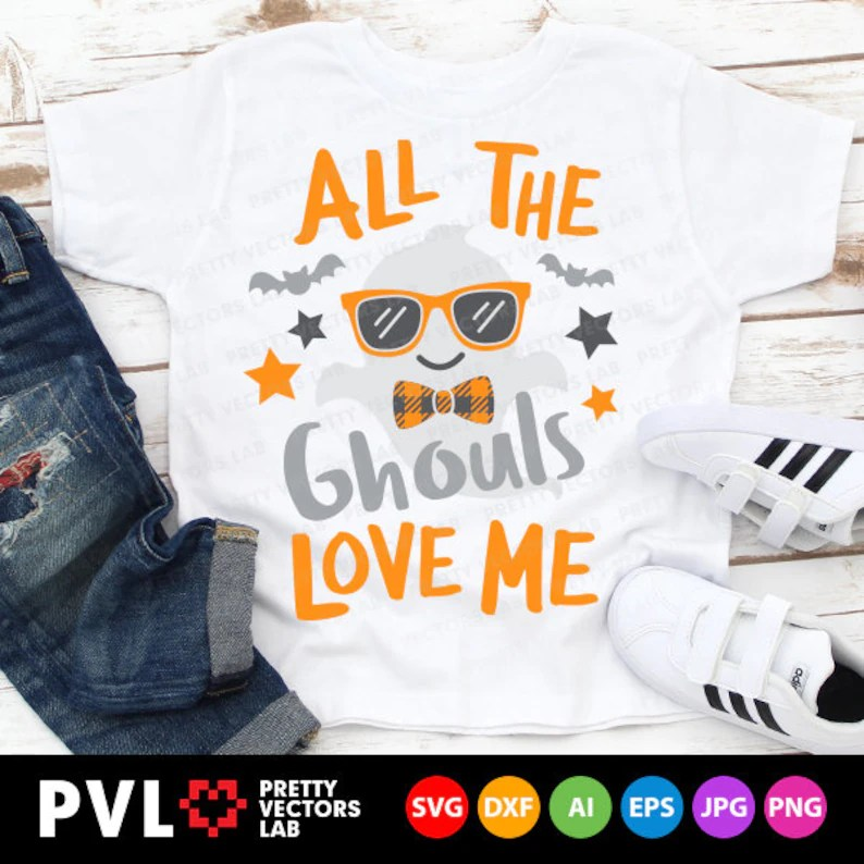 Download All The Ghouls Love Me Svg Halloween Svg Boy Ghost Svg Dxf ...