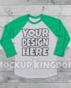 Raglan Shirt Mockup Raglan Mockup Shirt Mockup Raglan Etsy