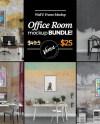 Office 5 In 1 Bundle Wall Frame Mockup Blank Wall Canvas Etsy