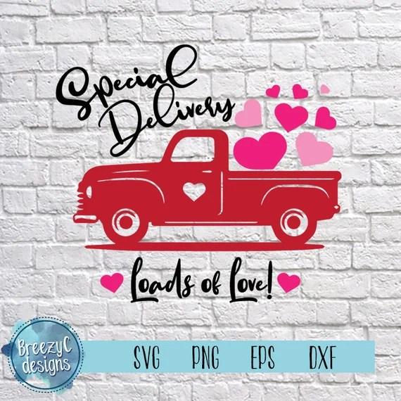 Download Valentines Truck Loads of Love SVG dxf eps png Instant   Etsy