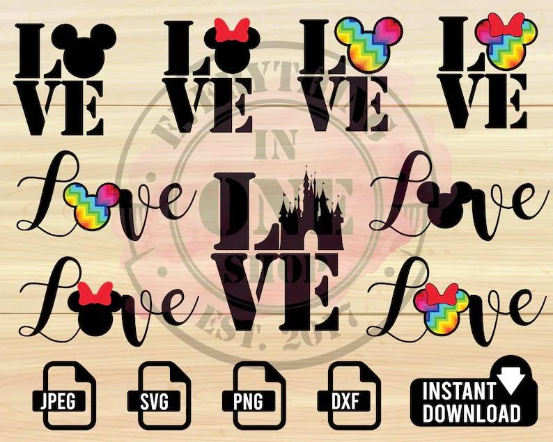Download DISNEY Love SVG Love Disney svg Love LBGTQ svg Disney   Etsy