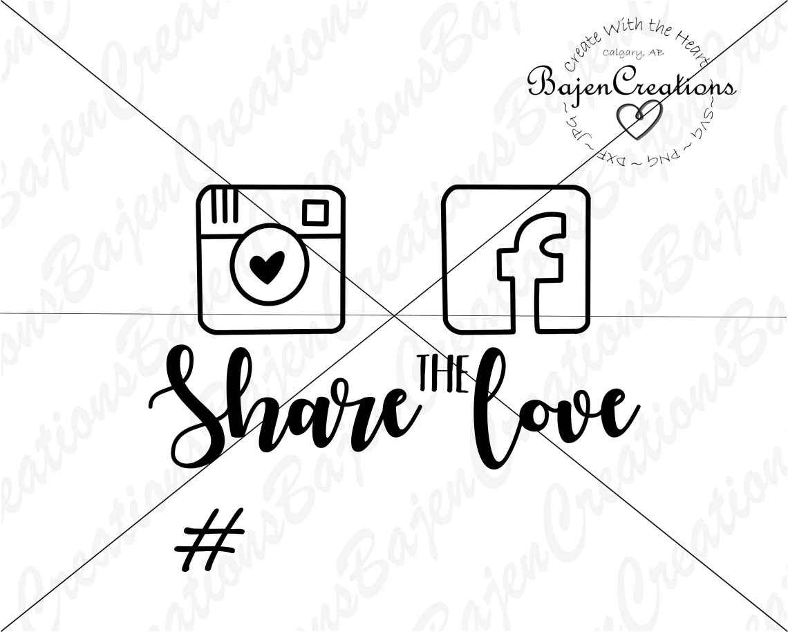 Download Share the Love SVG and DXF Cut file Hashtag Party Wedding ...
