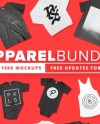 1500 Apparel Mockups Bundle Etsy