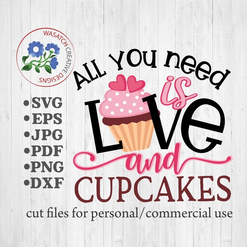 Download Love and cupcakes SVG cutting files Valentines Day SVG ...