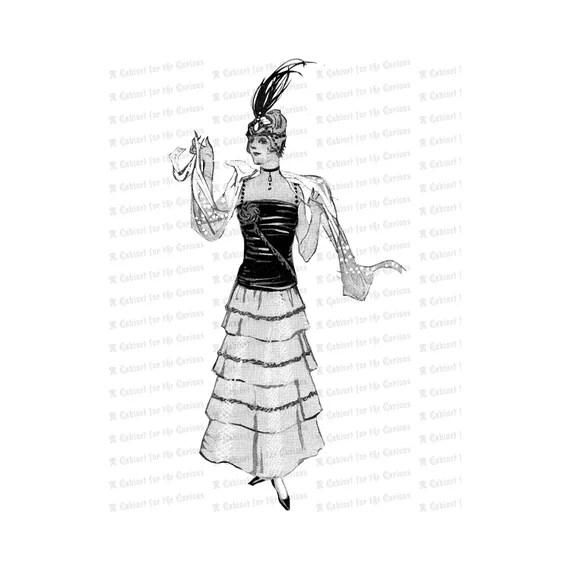 Jazz Age Flapper Vintage Pre-Roaring Twenties Flapper Woman | Etsy