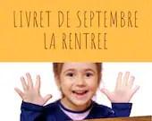 Livret d'activité de septembre - thème la rentrée