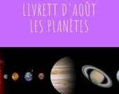 Livret d'activité d'août - Les planètes