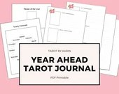 Year Ahead Tarot Spread Template   12 Month Tarot Forecast   A4 + US Letter Sized PDF Printable for Instant Digital Download