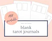 Blank Tarot Journal Sheets   PDF Printable for Instant Download   1-4 Cards Spreads   A4 & US Letter Sized