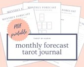 Monthly Forecast Tarot Journal   PDF Printable for Instant Download - A4 & US Letter Size   Monthly Tarot Reading Digital Template
