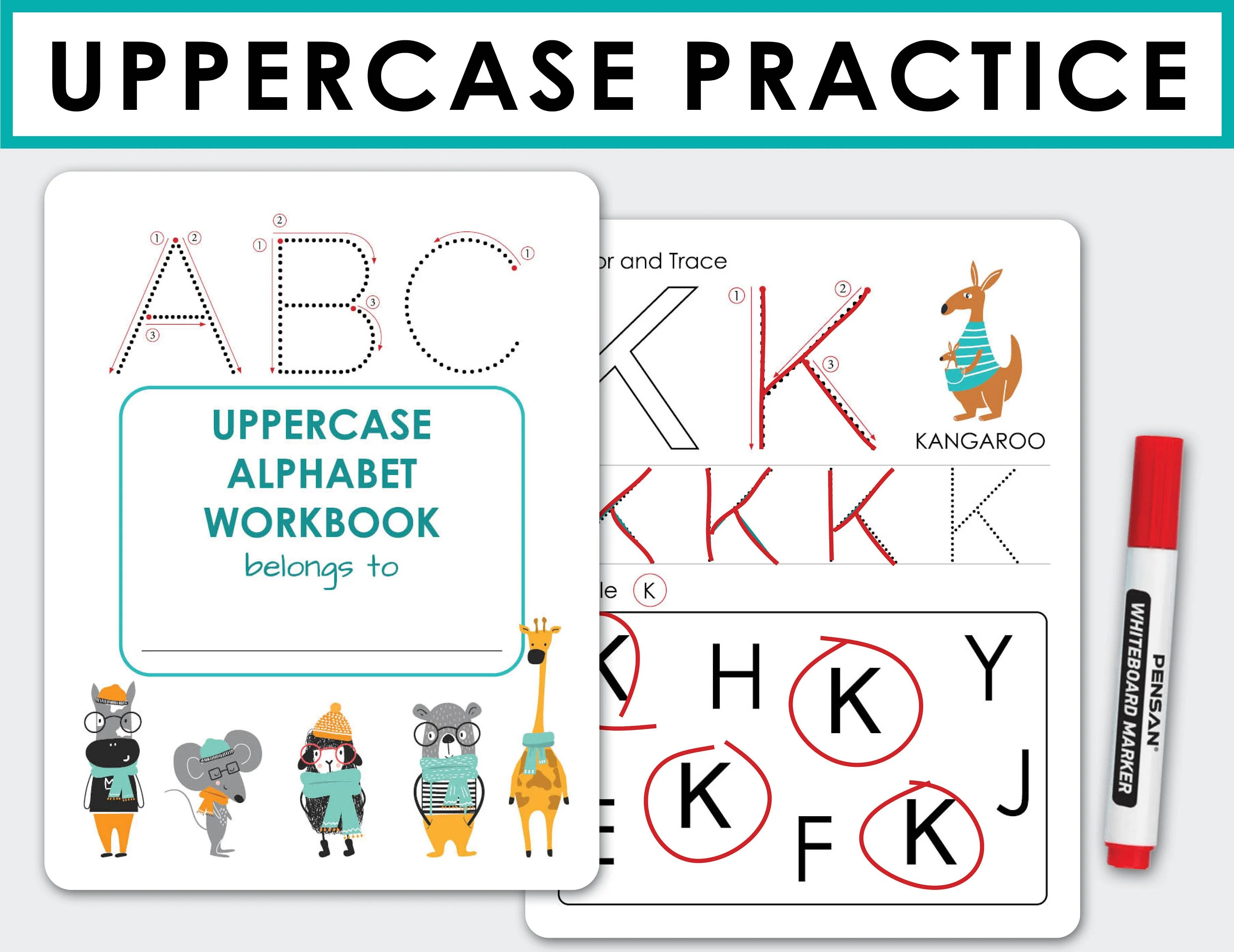 Alphabet Uppercase Tracing Worksheets Abc Letters
