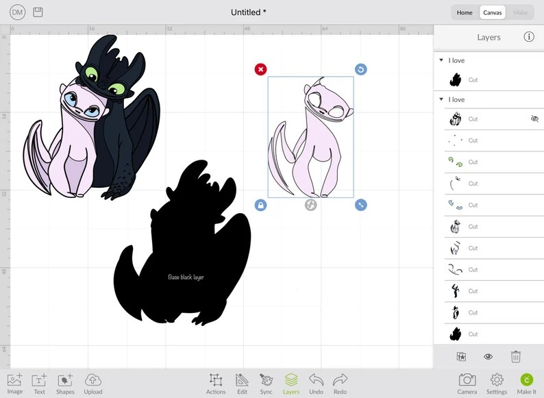 Download SVG Cute couple Toothless & Light fury in love How to ...