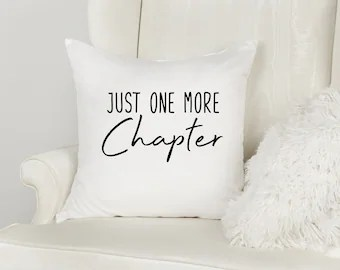 reading pillow cover etsy