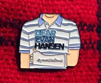 Dear Evan Hansen Enamel Pin Badge  cadeaux de noel comédie musicale