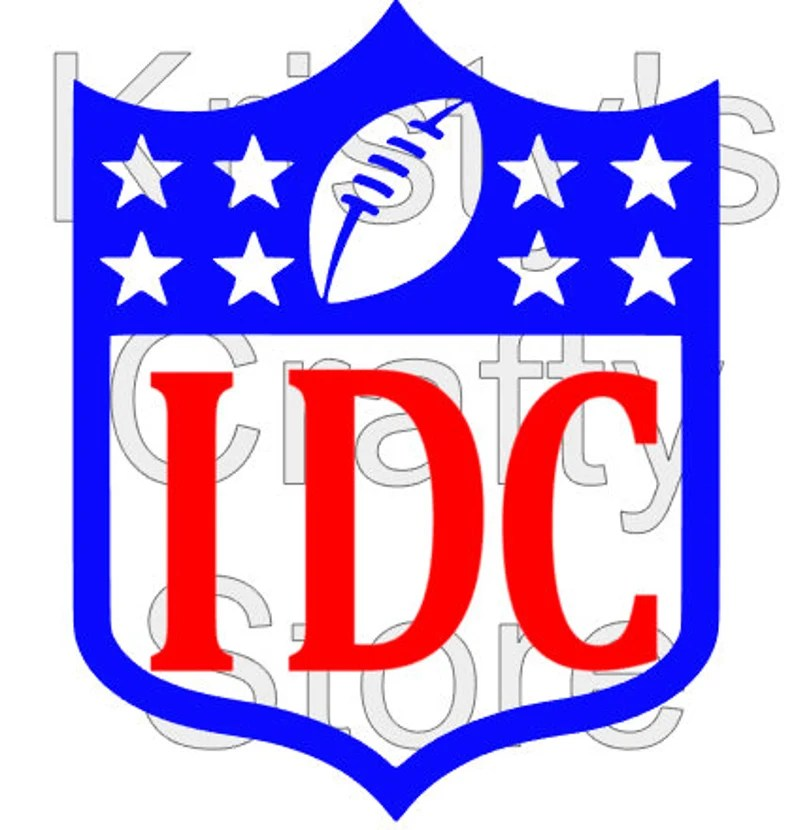 Download NFL IDC Logo Shield Superbowl Football SVG File | Etsy