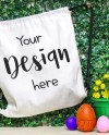 Drawstring Canvas Backpack Mockup Easter Bag Mockup Styled Etsy