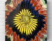 "Fluid Acrylic Pour Painting - ""Sunshine Daydream"""