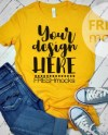 Bellacanvas 604 Ladies Tshirt T Shirt Tee Mockup Yellow Etsy