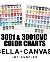 Bella 3001 3001cvc Color Charts Bella 3001 Unisex T Shirt Etsy