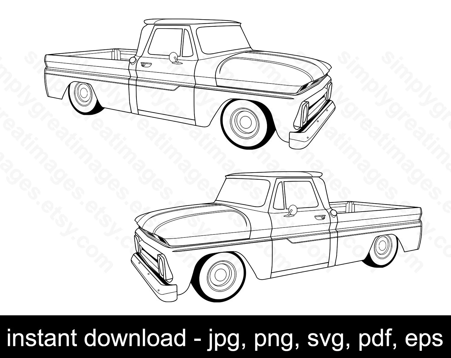 25 C10 Square Body Drawing Pics
