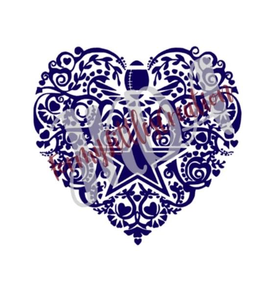 Download Love Dallas Cowboys SVG-Digital File | Etsy